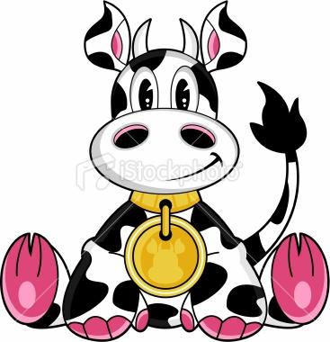 Free Cute Cow Clipart.