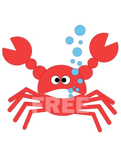 Cute Crab Clipart.
