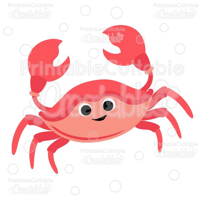 Cute Crab SVG Cut File & Clipart.