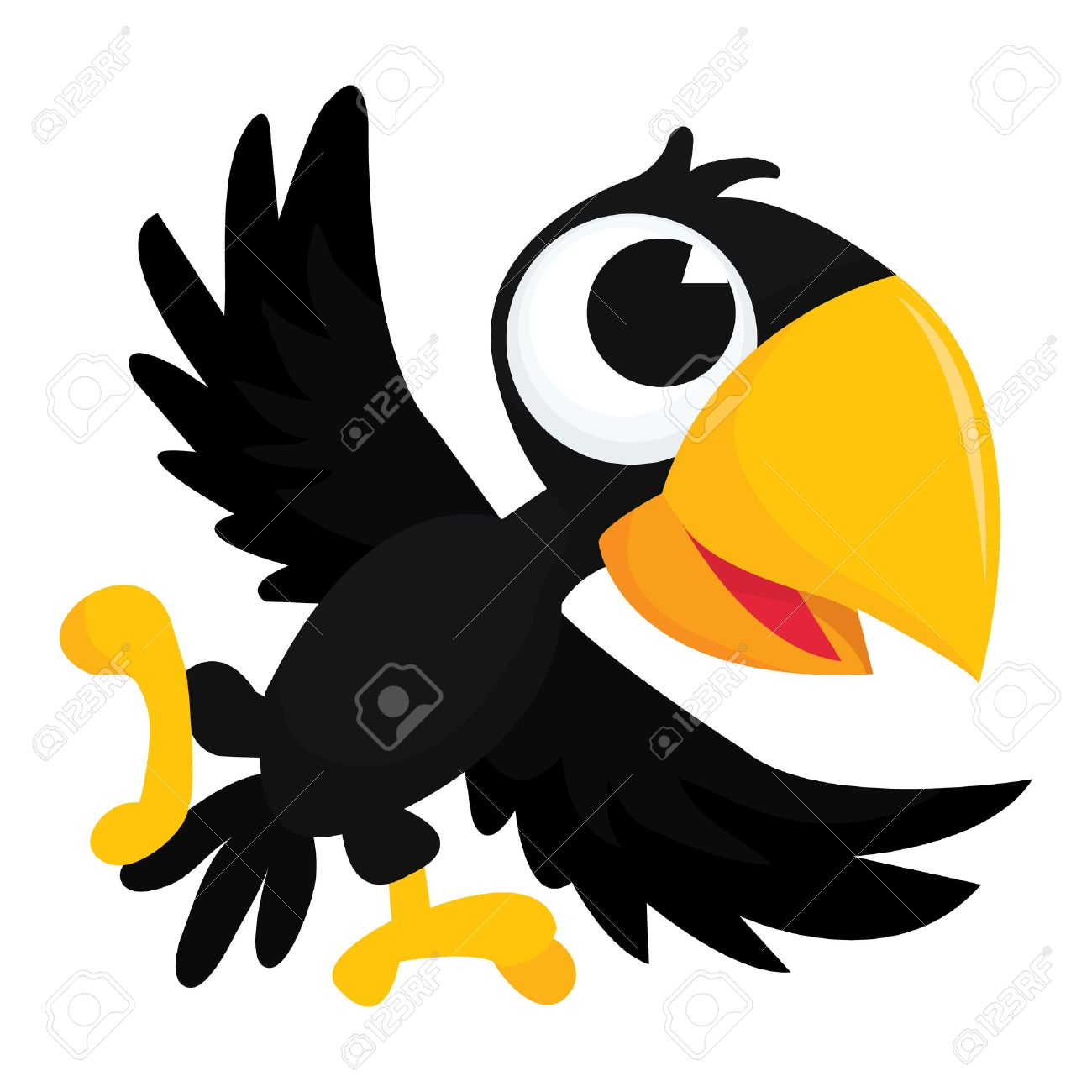 Cute crow clipart 1 » Clipart Station.
