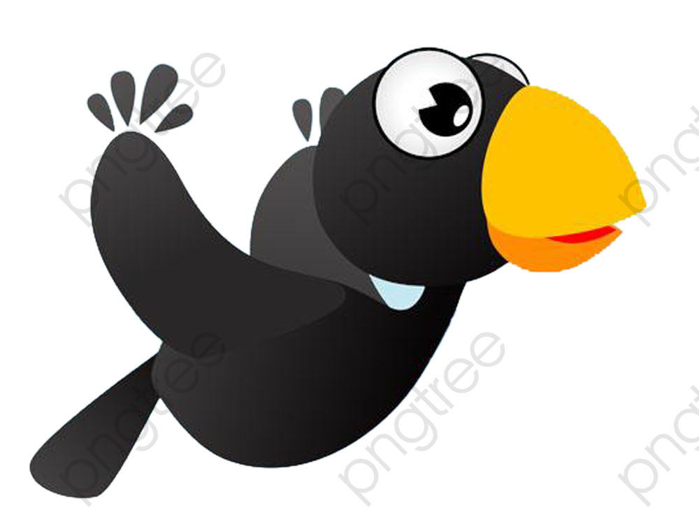 Cartoon Cute Little Crow, Cartoon Clipart, Cute Clipart, Cartoon.