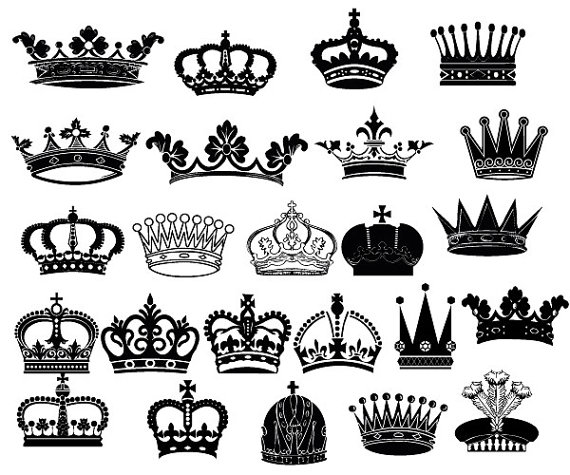 Crown Clipart // King Queen Crown Clip Art // Royal por.