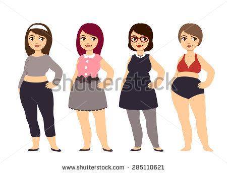 Cartoon girls Chubby