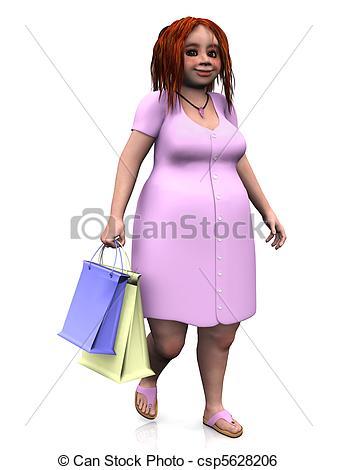 Cute Cubby Ladies Clipart.