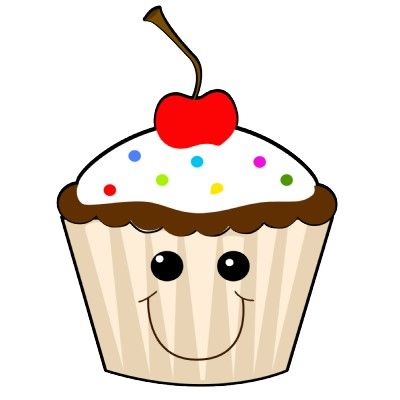 Cute cupcake clipart with faces google search cupcakes.