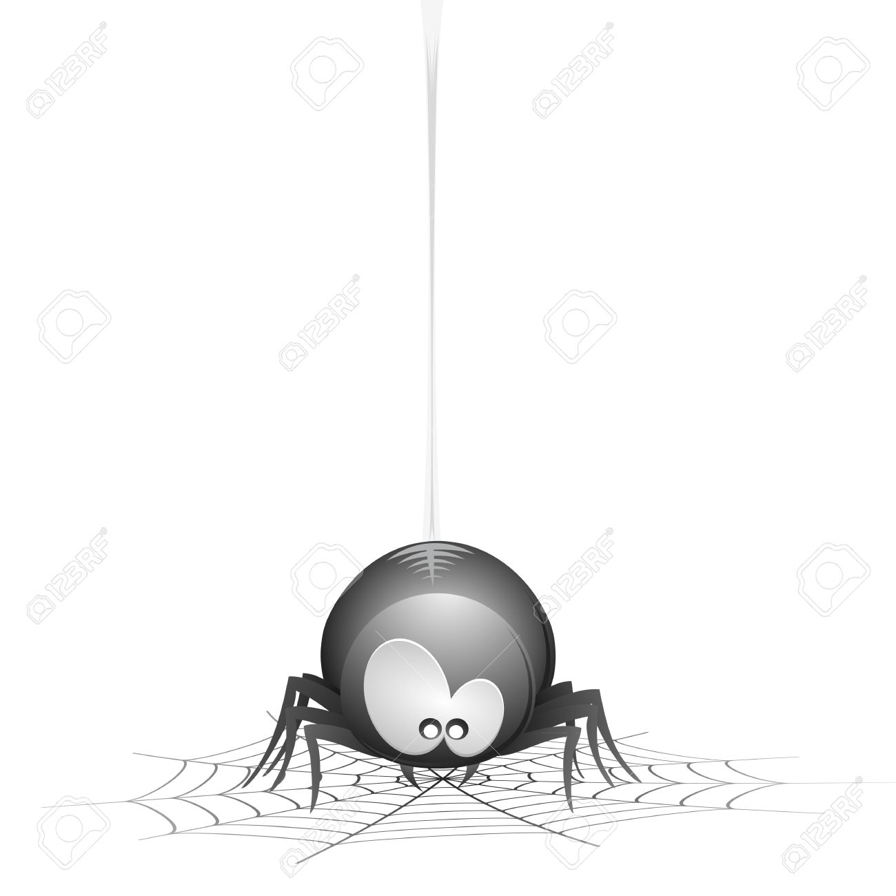 Cute Danglins Spider Clipart.