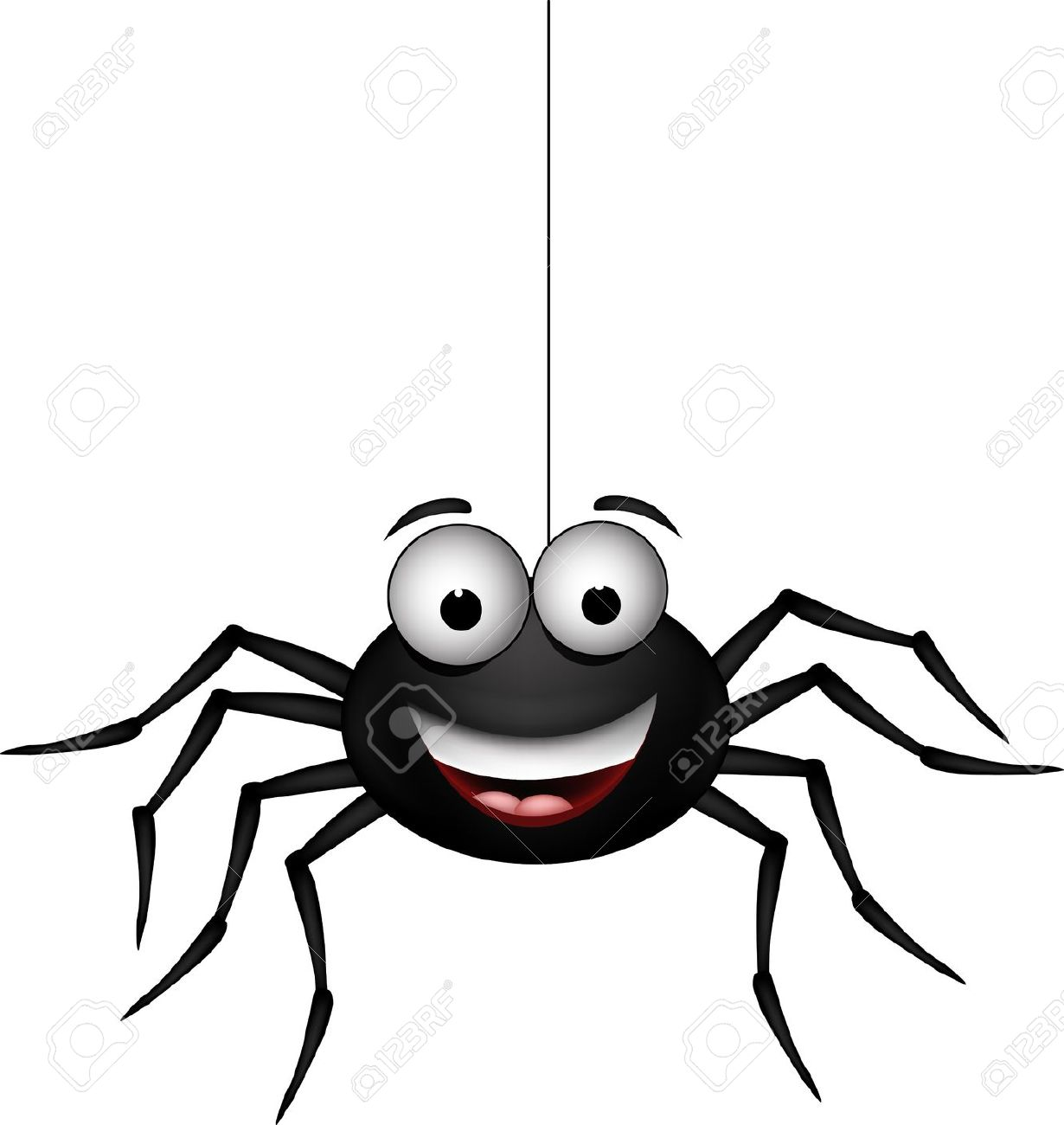 cute danglins spider clipart - Clipground