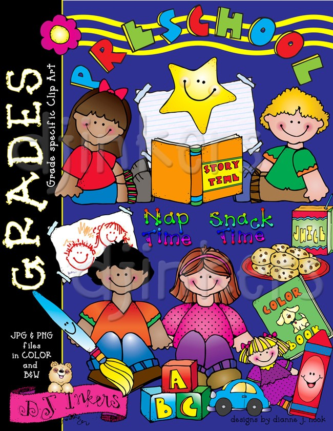 The cutest clip art for preschool kids & toddlers.