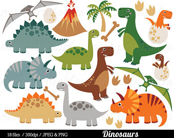 1611 Dinosaurs free clipart.