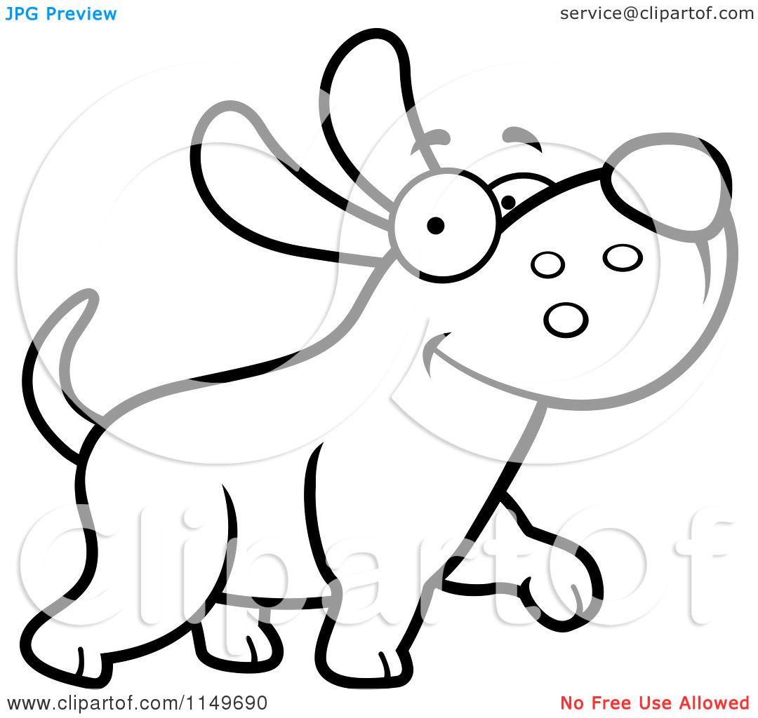 Cute Dog Clipart Black And White (98+ images in Collection) Page 3.