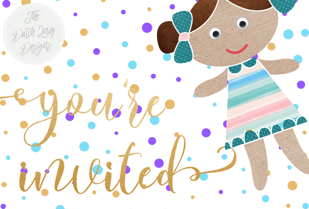 Doll & Birthday Clipart Set.