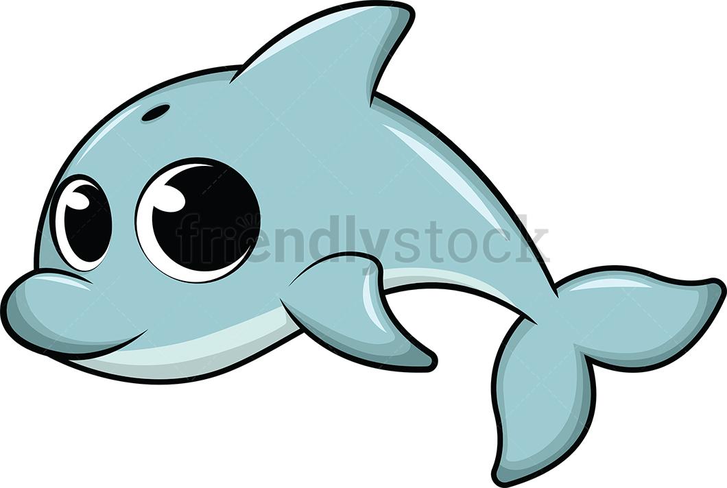 Cute Baby Dolphin.