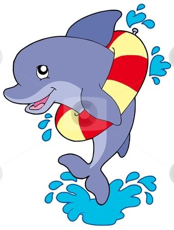 Cute Dolphin Clipart.