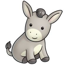 Cute Donkeys Clipart.