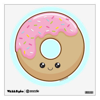 Cute Donut Wall Decals & Wall Stickers.