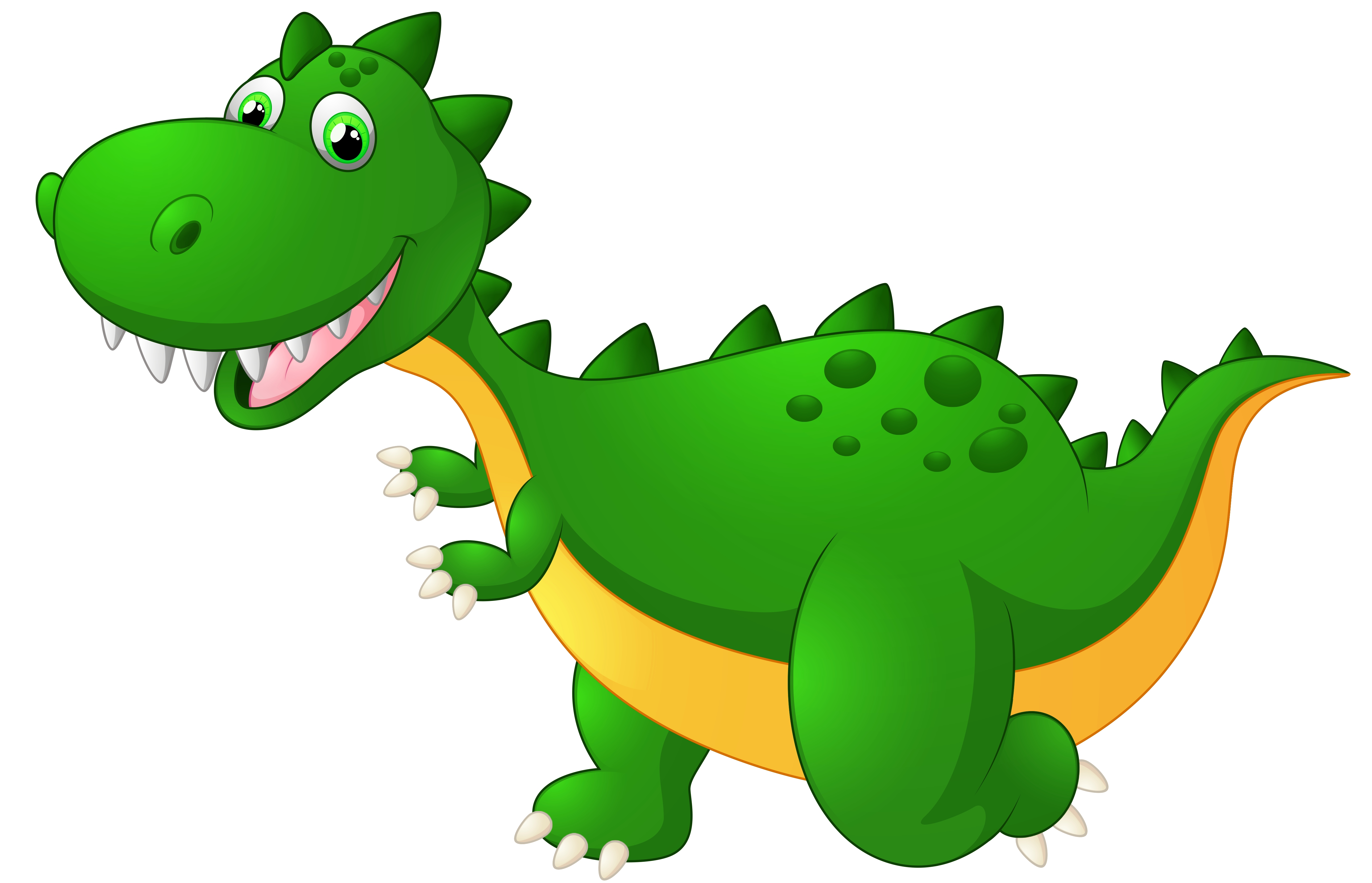 Cute Dragon Cartoon PNG Clipart Image.