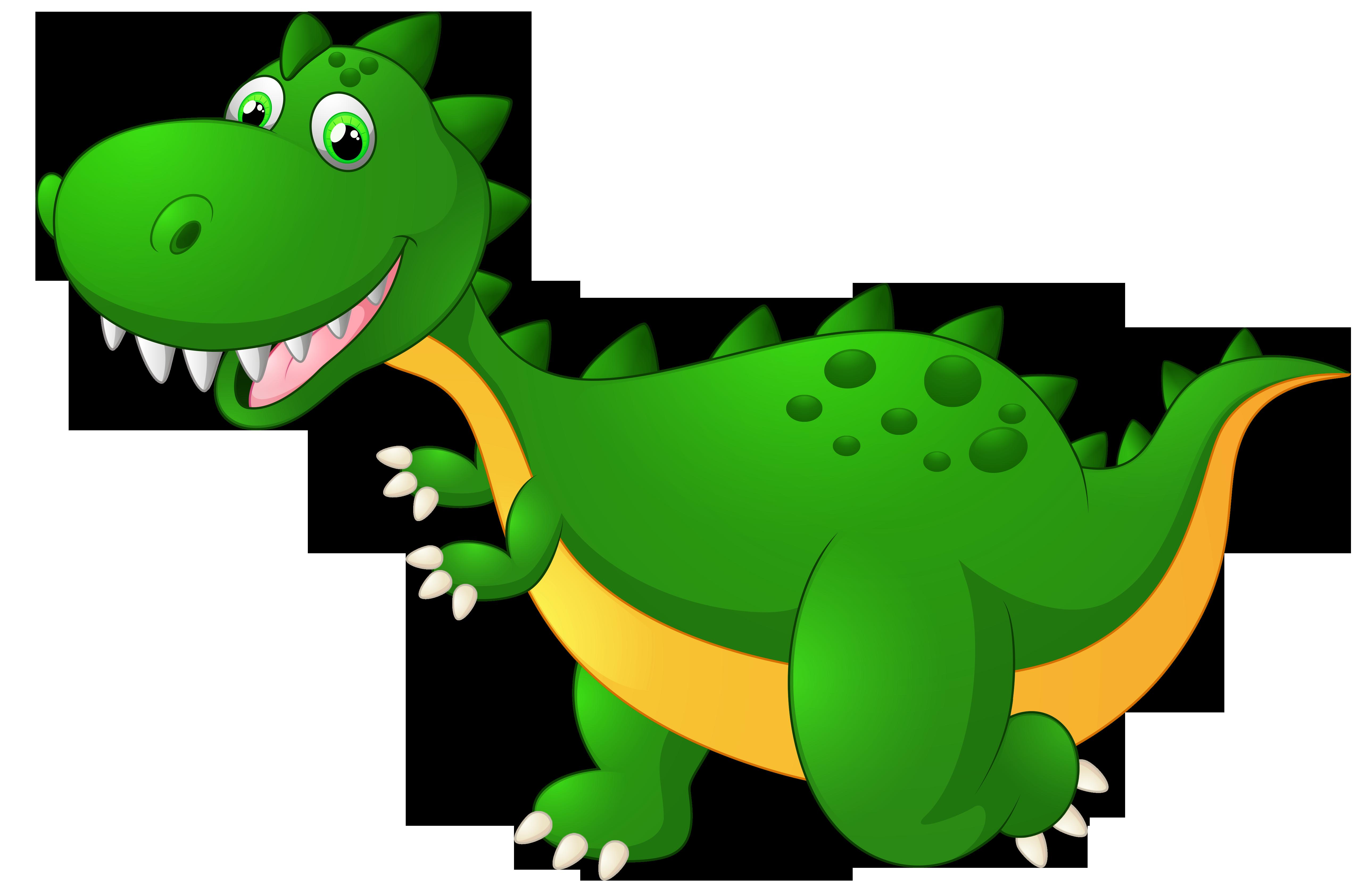 Cute Dragon Cartoon PNG Clipart Image.