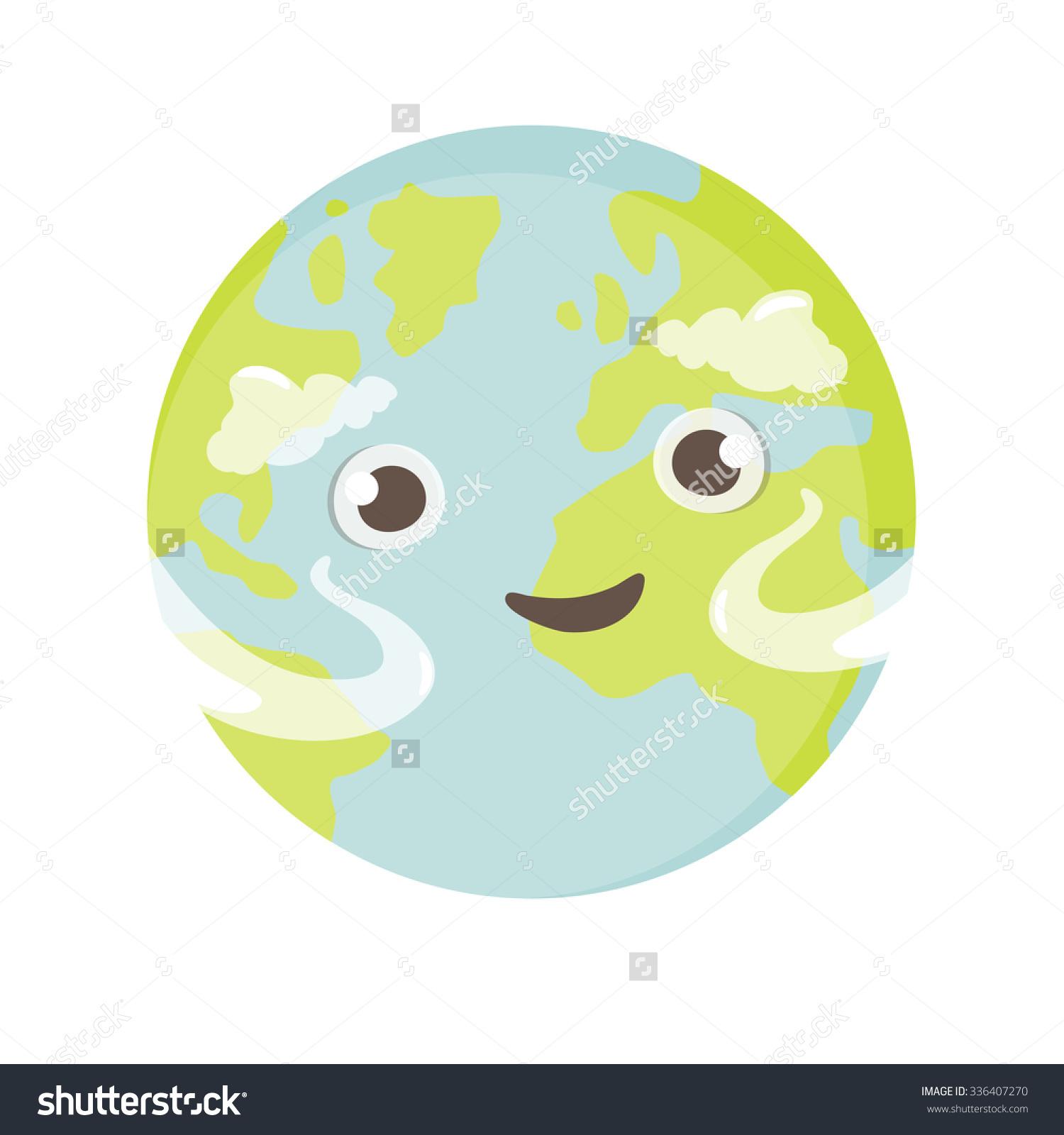 Cute Mascot Earth Stock Vector 336407270.