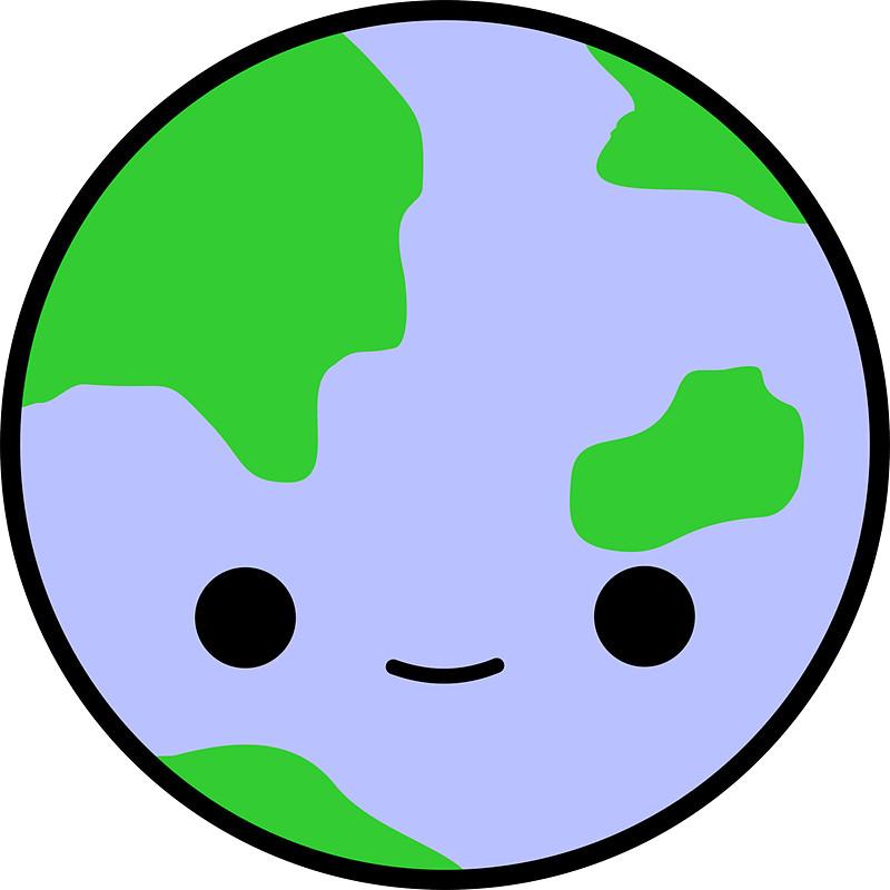 Cute earth and stars