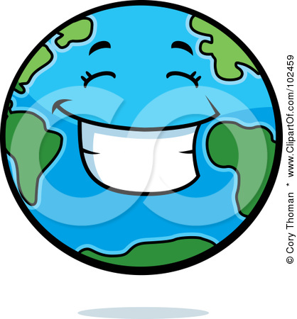 Smiling Earth Clipart.