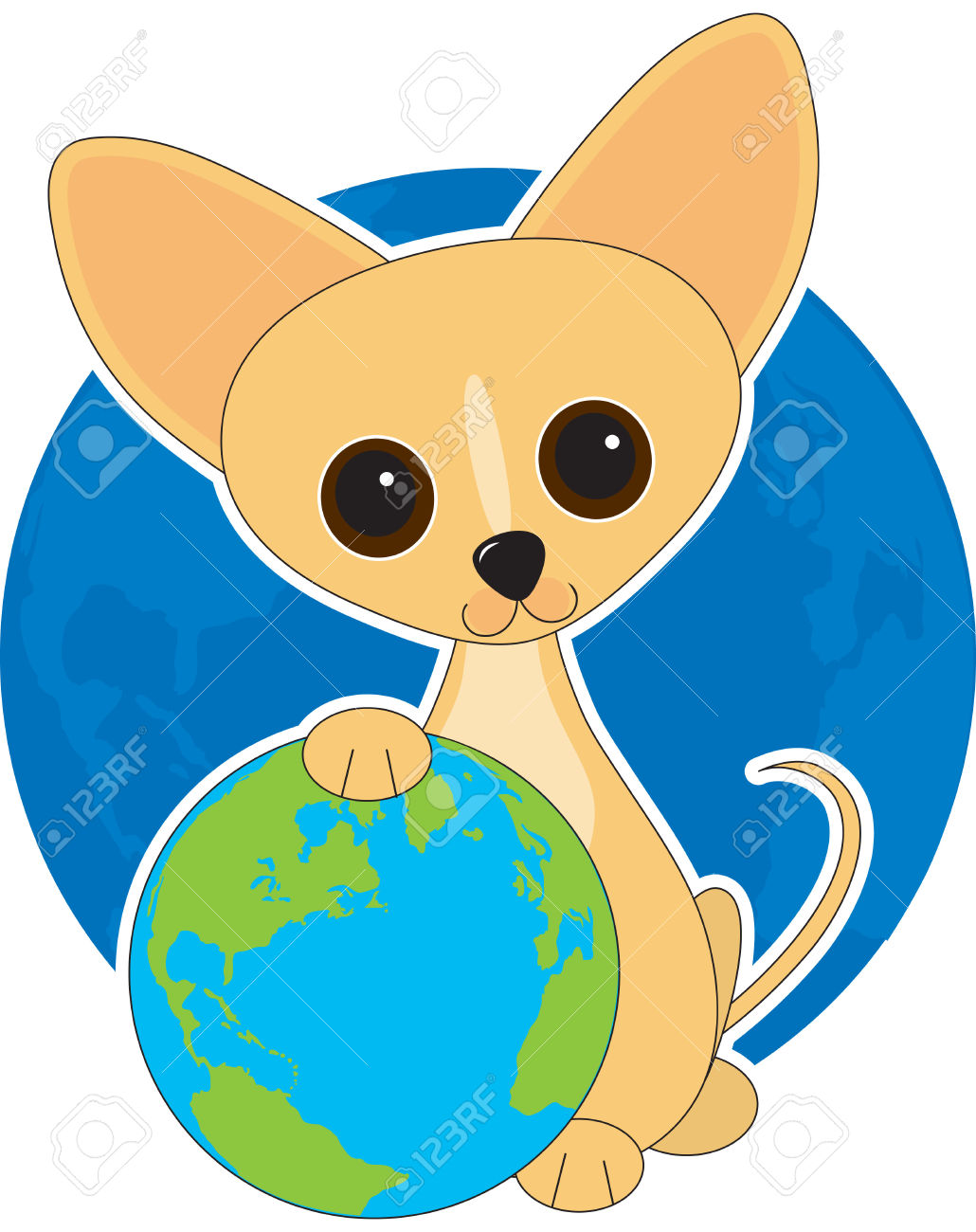 cute earth clipart #4