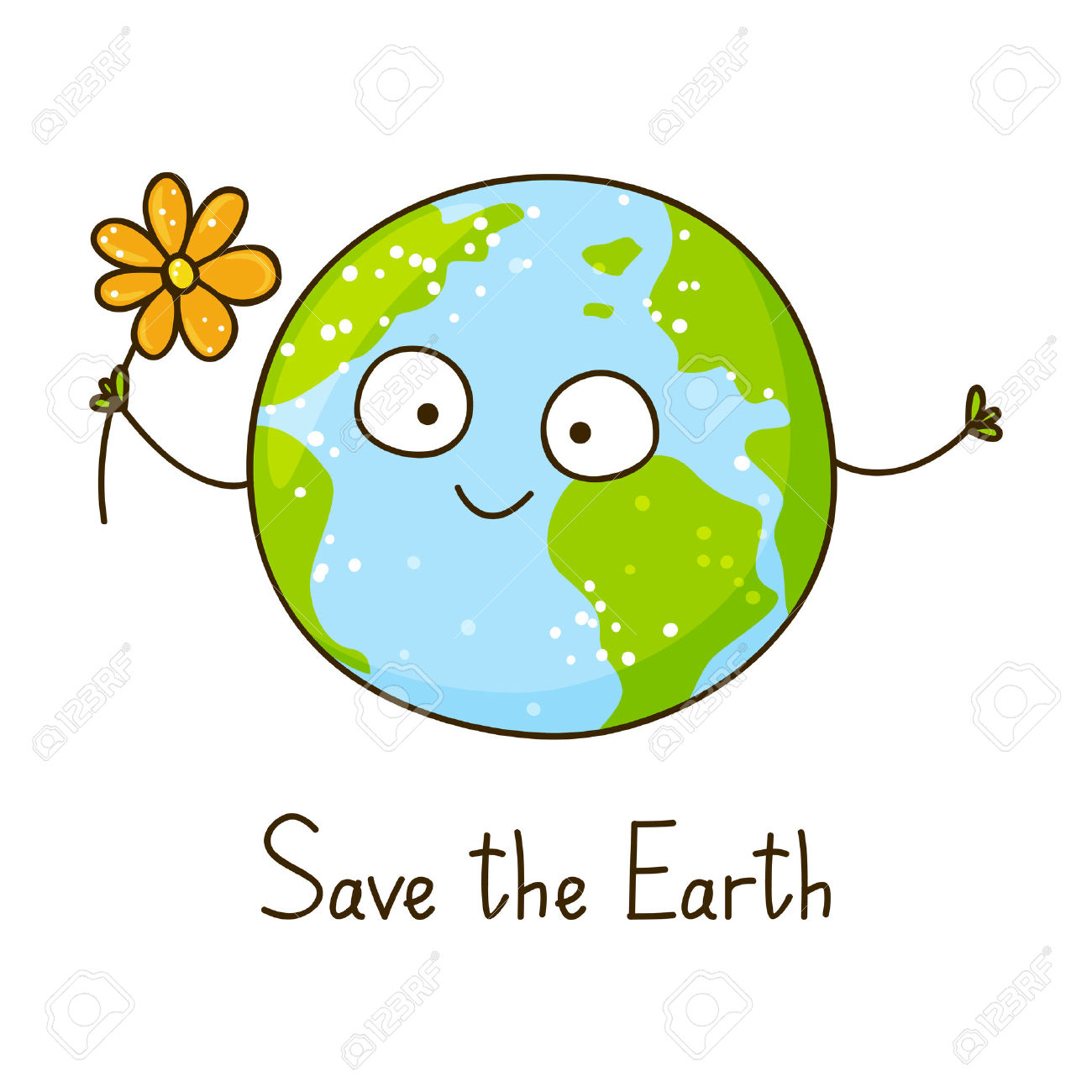 cute earth clipart #16