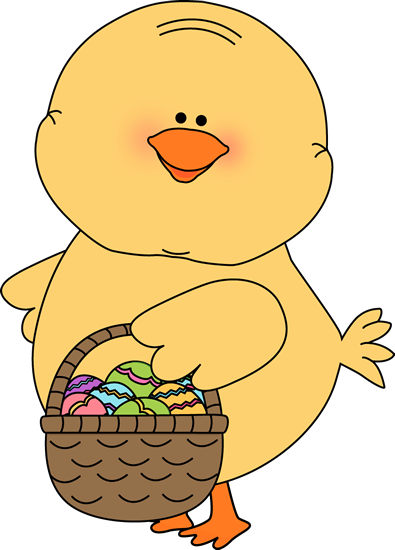 Cute Easter Chick Clipart.