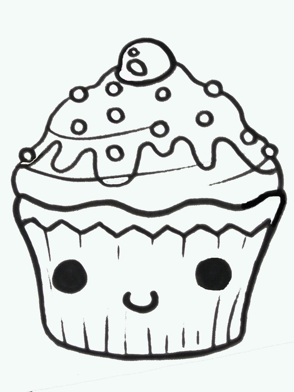 Easy Cute Cupcake Drawings Clipart.
