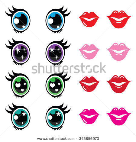 Cartoon Eyes Stock Images, Royalty.