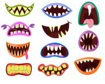 Monster mouth clip art, Monster clipart, Halloween clipart, Cute.