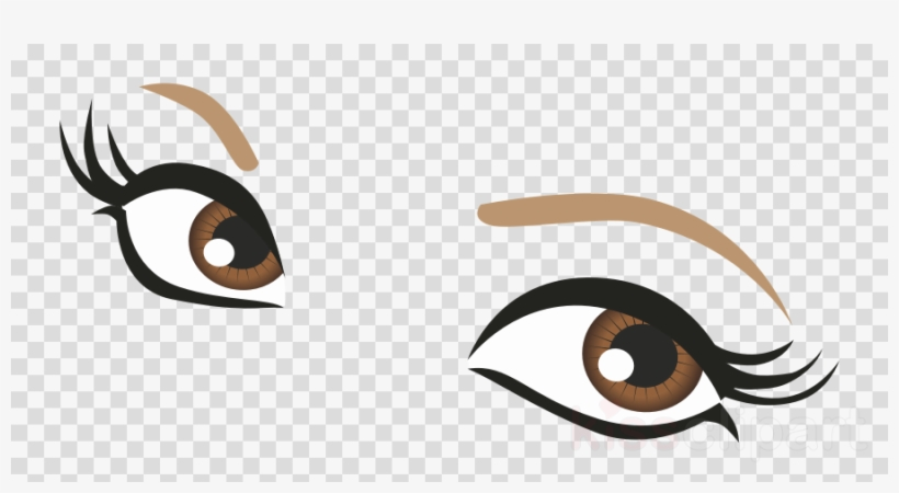 Brown Eyes Transparent Clipart Eyelash Clip Art.