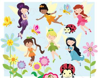 Cute fairy clipart.