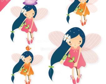 Cute fairy clip art.