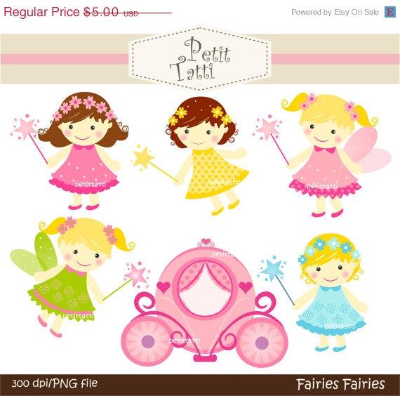 ON SALE cute baby girl clipart cute fairy clipart INSTANT.