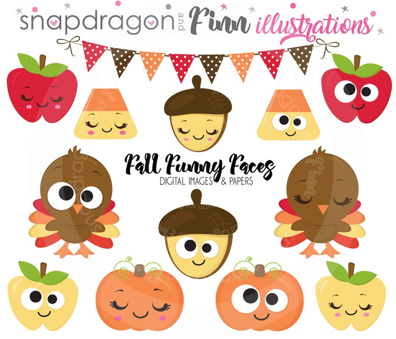 BUY5GET5 Cute Fall clipart, Autumn clipart, Thanksgiving clipart, Turkey  clipart, Harvest clipart, Funny Turkey, Papers.