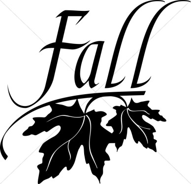 Cute fall clipart black and white.