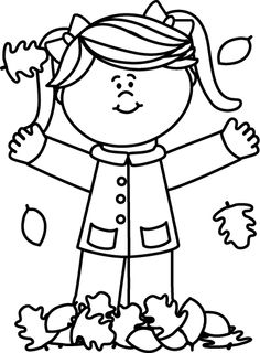 Cute Fall Leaf Clipart Black And White.