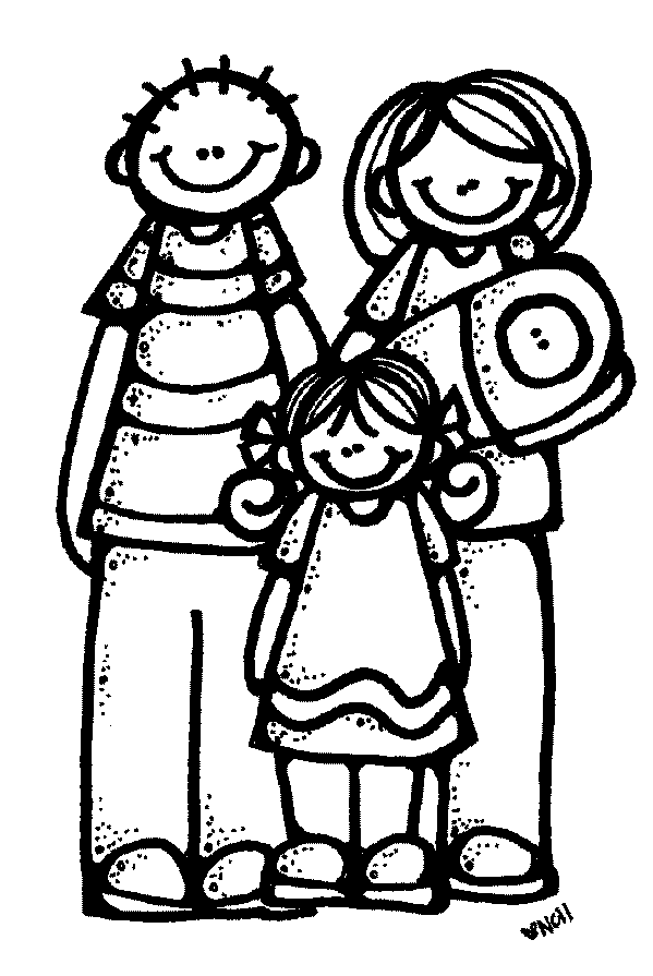 indian family clipart black and white - Clipground