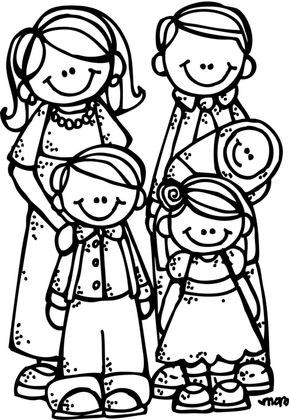 Free Clip art of Family Clipart Black and White #91 Best Cute.