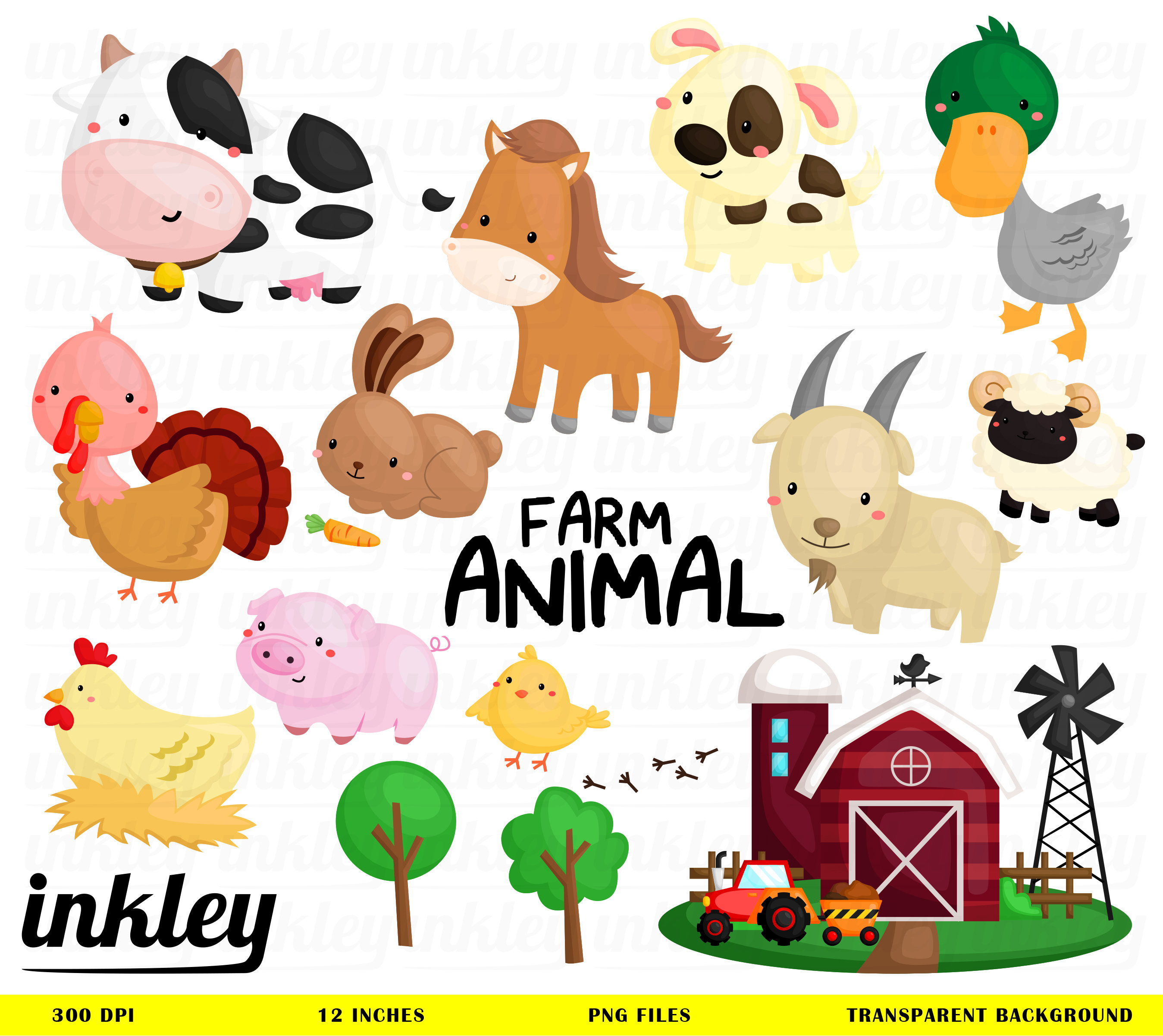 1242 Farm Animal free clipart.