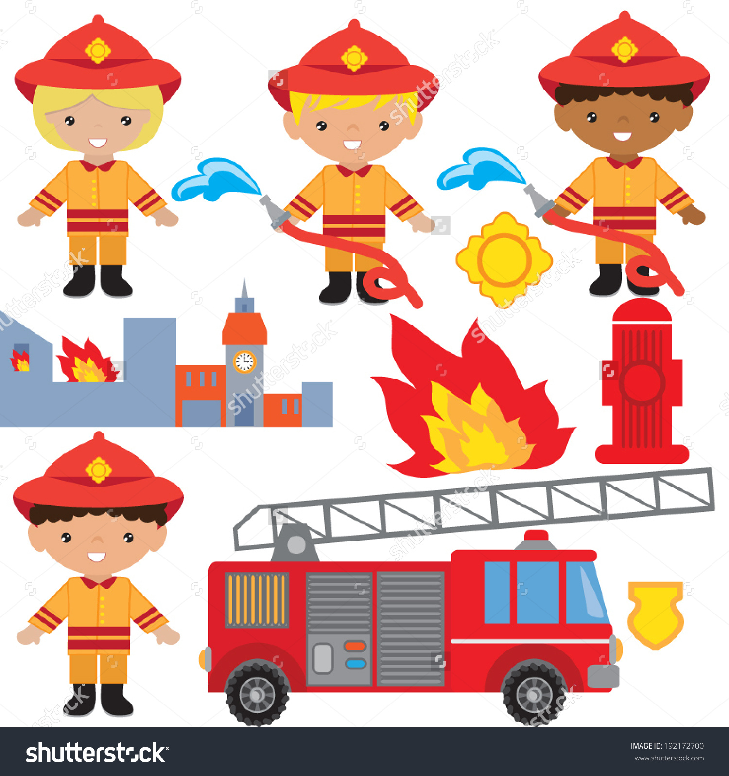 cute firefgighter clipart - Clipground