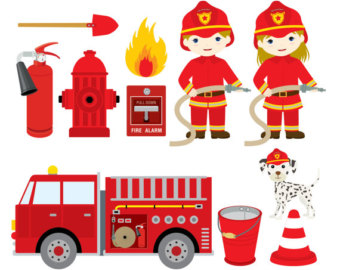 Cute Firefgighter Clipart.