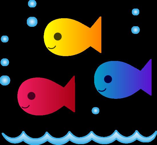 Cute School of Fish Swimming.