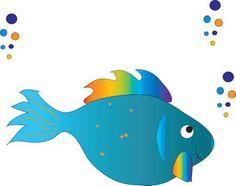 Fish in Water Clip Art.