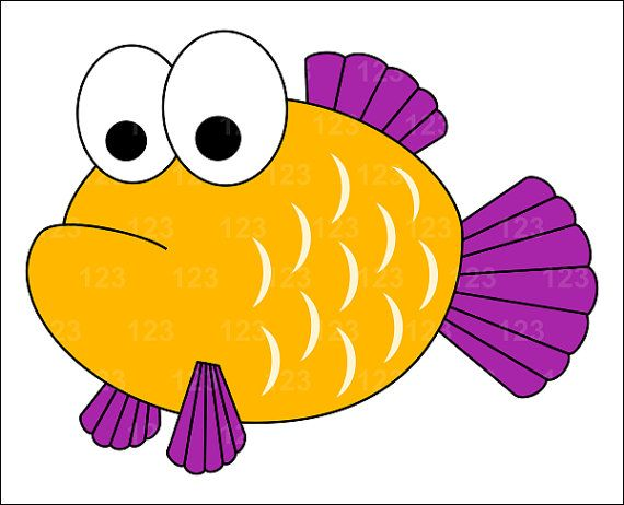 Free Cute Fish Clipart Image.