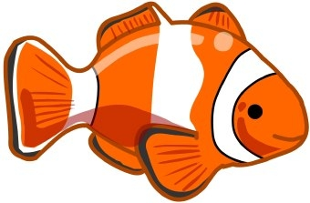 Cute fish clipart for kids 2.