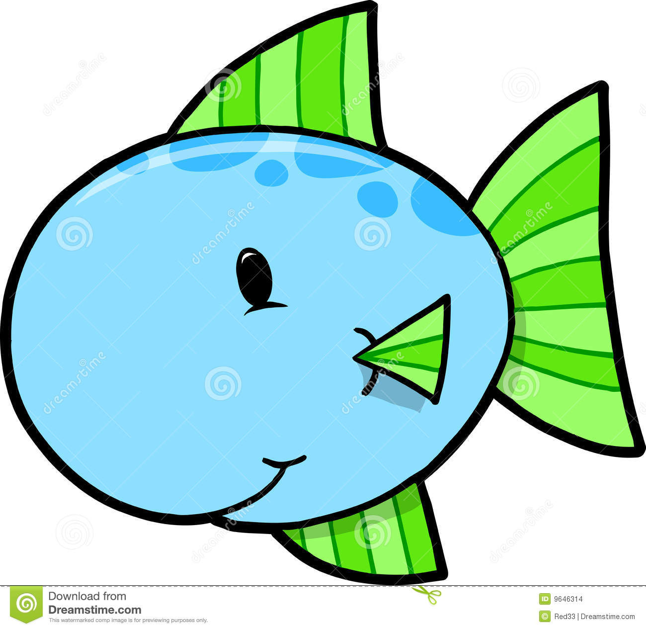 686 Cute Fish free clipart.