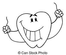 Cute Dental Floss Clipart.