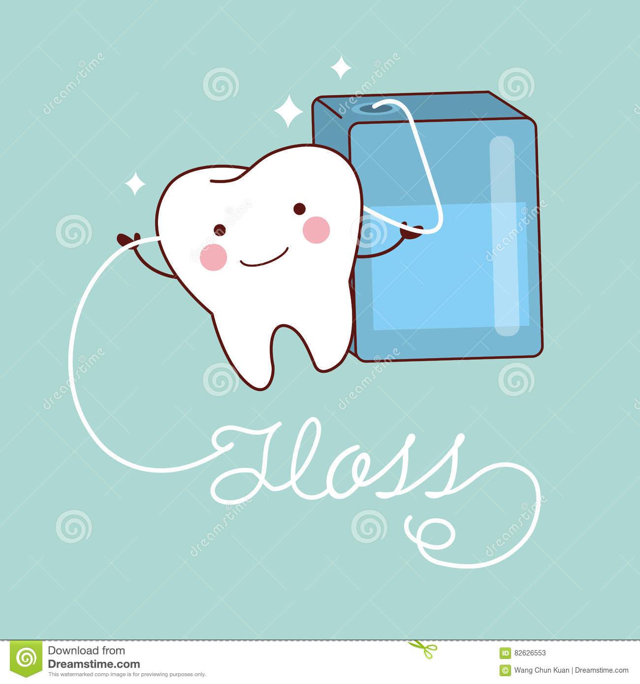 Showing post & media for Cartoon flossing teeth cute.