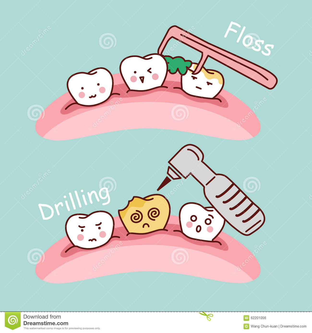 Cute Dental Floss Clipart